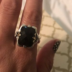 Garnet Doublet 18k gold Ring